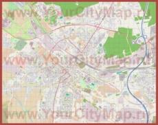 Подробная карта города Гливице