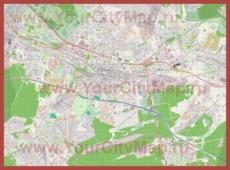 Подробная карта города Катовице