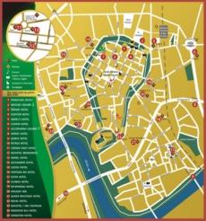 Карта отелей Кракова
