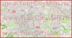 Подробная карта города Краков