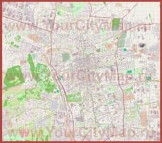 Подробная карта города Лодзь