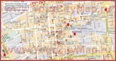 Туристическая карта Лодзя с достопримечательностями