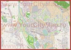 Подробная карта города Ополе