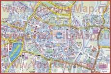 Туристическая карта Познани с достопримечательностями