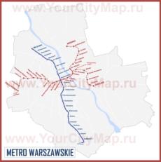 Карта метро Варшавы