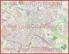 Подробная карта города Вроцлав