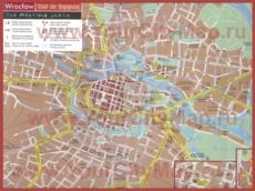 Туристическая карта Вроцлава с достопримечательностями