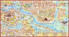 Туристическая карта Вроцлава с отелями
