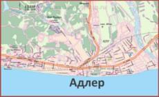 Карта дорог Адлера
