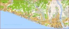 Туристическая карта побережья Адлера