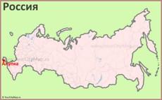Алупка на карте России
