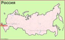Алушта на карте России