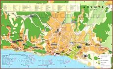 Карта пансионатов Алушты