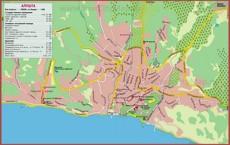 Подробная карта города Алушта