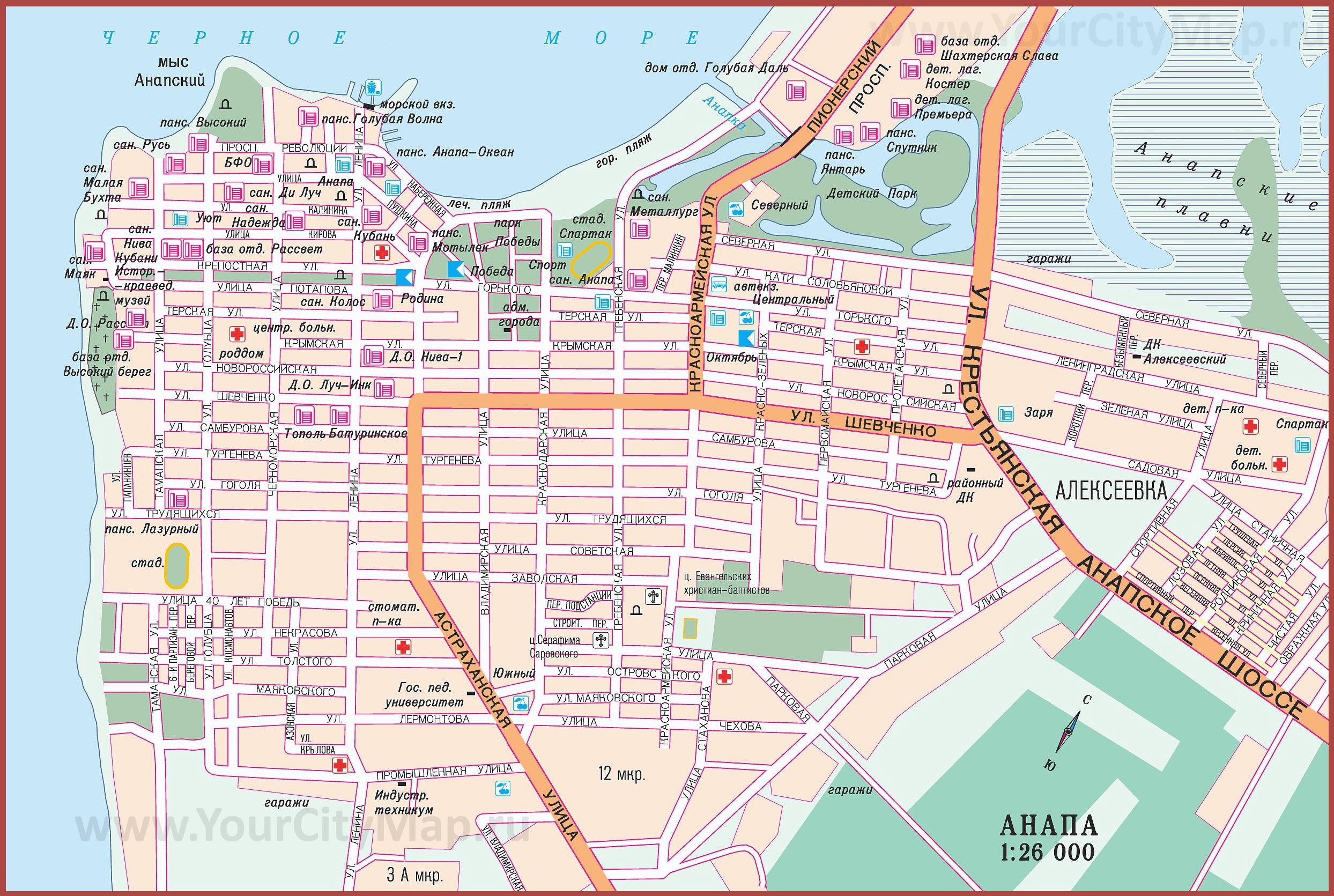 положительную карта с улицами и домами какое время суток