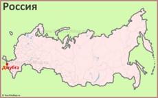 Джубга на карте России