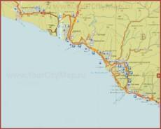 Карта побережья Джубги