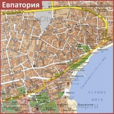 Карта центра города Евпатория