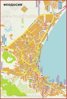Карта города Феодосия