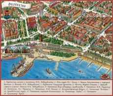 Туристическая карта Феодосии с достопримечательностями и гостиницами
