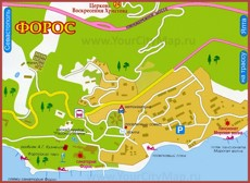 Туристическая карта Фороса с пляжами