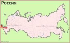 Гурзуф на карте России