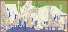 Карта побережья Хосты с санаториями
