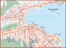 Карта дорог Новороссийска