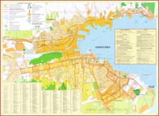 Туристическая карта Новороссийска с отелями и достопримечательностями