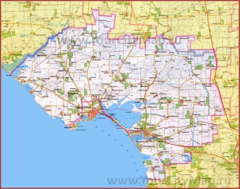 Карта Сак с окрестностями