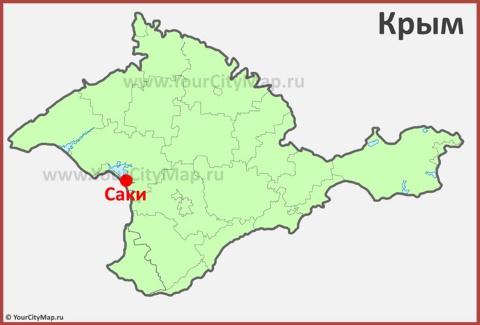 Саки на карте Крыма