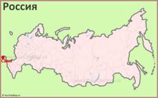 Саки на карте России