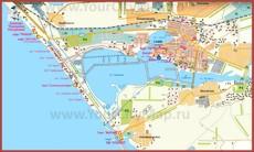 Туристическая карта Сак с пансионатами и санаториями