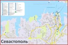 Карта Севастополя с достопримечательностями