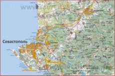 Карта Севастополя с окрестностями