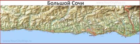 Карта большого Сочи
