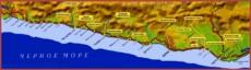 Карта побережья Сочи с поселками