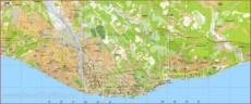 Туристическая карта Сочи с достопримечательностями и пляжами