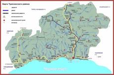 Карта Туапсе с окрестностями