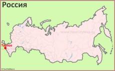 Туапсе на карте России
