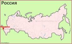 Витязево на карте России