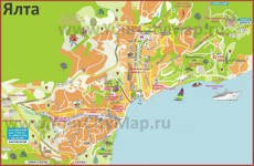 Карта города Ялта
