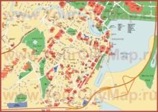 Карта центра Сингапура с достопримечательностями