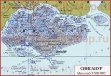 Карта Сингапура на русском языке