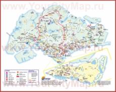 Подробная карта Сингапура