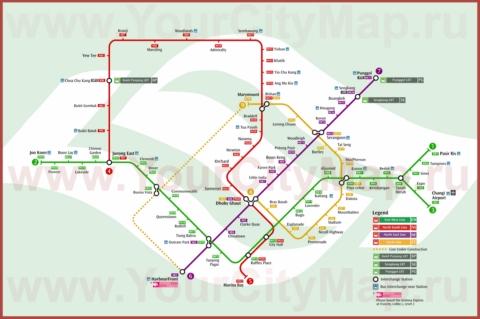 Схема метро Сингапура
