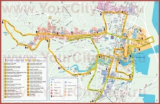 Туристическая карта Сингапура с магазинами и достопримечательностями