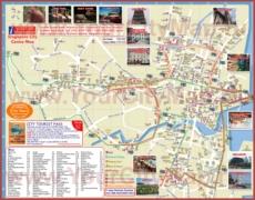 Туристическая карта Сингапура с отелями и достопримечательностями