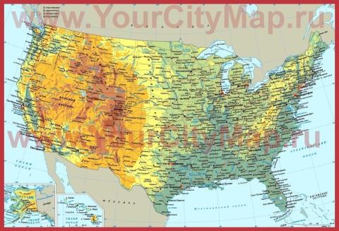 Города США на карте