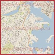 Карта города Бостон